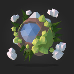 Planet Earth Low Poly Geometry Vector
