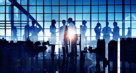 Business People Communication Discussion Cityscape Concept