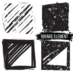Set grunge backgrounds. Abstract elements.