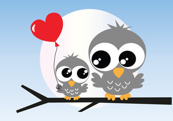 two sweet owls