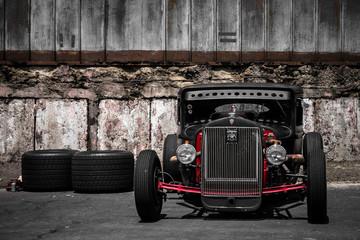 Fond de hotte en verre imprimé Vintage voitures Hot Rod car