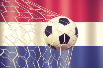 Netherlands soccer ball vintage color