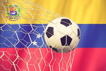 Venezuela soccer ball vintage color