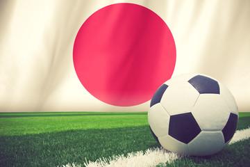 japan soccer ball vintage color