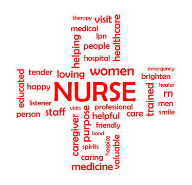Nurse Word Cloud Concept