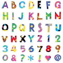 アルファベット、数字
