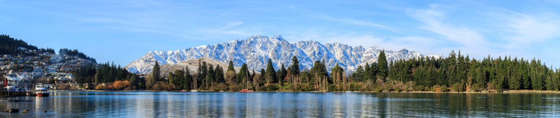panoramic view of Queenstown