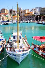 Fishing boats in port of Heraklion