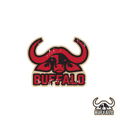 Stylized silhouette of a buffalo. Artistic creative idea. Animals logo design template. Vector idea logotype.