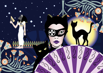 Mysterious catwoman