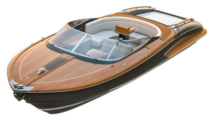 Luxury Speed Boat. Isolated with clipping path.