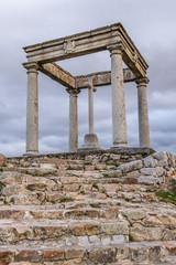 Avila, Castilla y Leon, Spain, religious monument at the entrance to the city