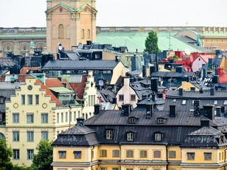 View of roofs of the Old City. Stockholm, Sweden