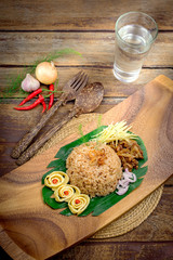 fry rice with the shrimp paste