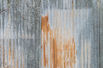 Wall Mural - Galvanized sheet with rust texture
