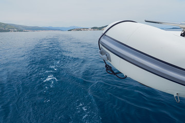 inflatable boat on adriatic sea