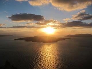 Golden Santorini Sunset