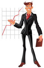 vector presentation businessman