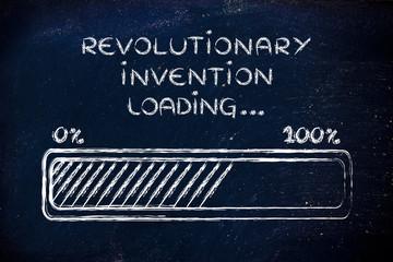 revolutionary invention loading, progress bar illustration