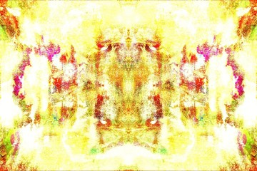 Foto op Aluminium Zwavel geel Abstract Painting with beautiful colors