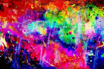 Abstract Painting with beautiful colors