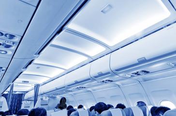 Interior of airplane
