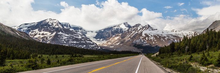 Panoramic view of the Canadian Rocky Mountain