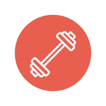 Barbell thin line icon