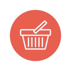 Shopping basket thin line icon
