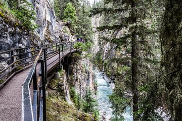 Catwalks over the Johnston Canyon Banff
