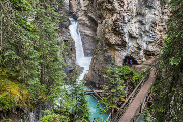Johsnton Canyon Lower Fall and the Catwalk