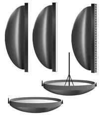 Lichtformer für Kompaktblitze und Generator Blitze