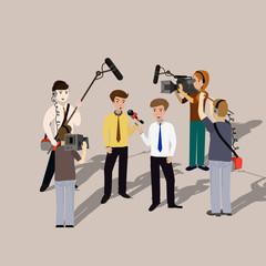 concept live news, reports, interviews