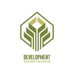 Development - vector logo concept illustration for business company. Vector logo template. Design element.