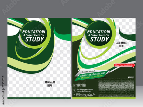 Education Flyer Template Design Magazine Stock Image And Royalty
