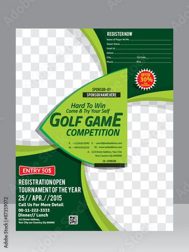 golf flyer template design magazine