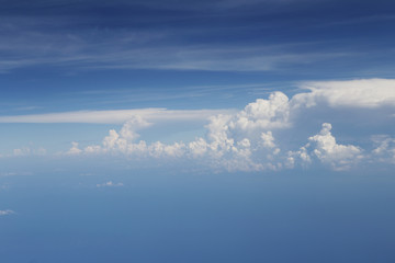 Nice white cloud on the sky background. emotion concept