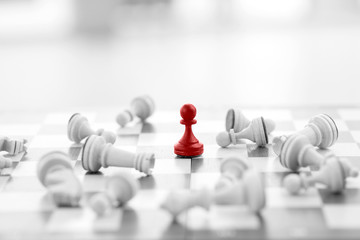 Chess business concept success & strategy