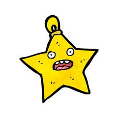 christmas star bauble cartoon