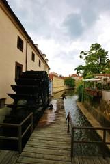 Водяная мельница на реке Чертовка в Праге