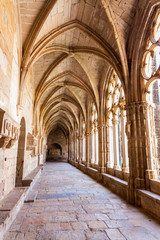 view of the cloister of Monastery of Santa Maria de Santes Creus