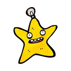 cartoon christmas star bauble