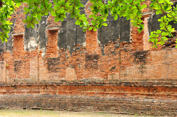 Buddism ancient remains/In Ayutthaya province, Thailand, Asia