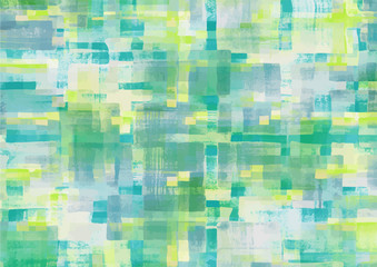 Pattern of colorful abstract geometric shapes. Watercolor