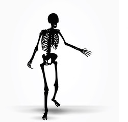 skeleton silhouette in pleading pose