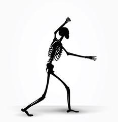 skeleton silhouette in intimidating pose