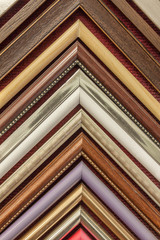 Hanging sample wooden frame corner