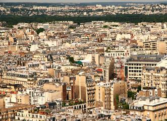 France. View of modern residential buildings in Paris.