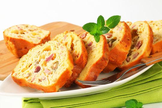 Savory ham and olive cake