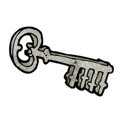 cartoon metal key